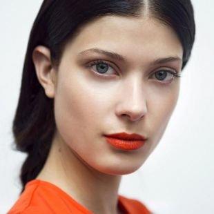 Макияж для брюнеток с красной помадой, весенний макияж для брюнеток