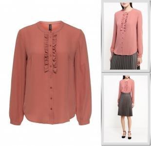 Коралловые блузки, блуза concept club, осень-зима 2016/2017