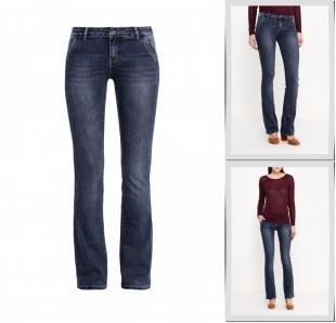 Синие джинсы, джинсы miss bon bon, осень-зима 2016/2017
