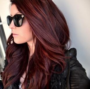 Цвет волос махагон, вишнево-каштановый цвет волос