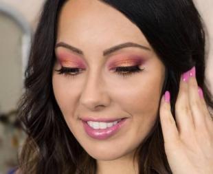 Летний макияж для карих глаз, нарядный макияж для брюнеток