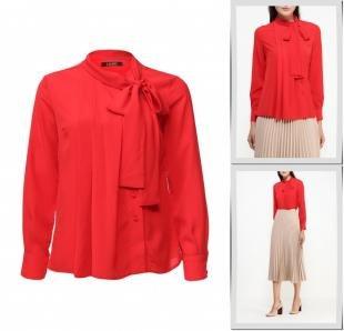Красные блузки, блуза lusio, осень-зима 2016/2017
