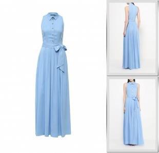 Голубые платья, платье madmilk, весна-лето 2016