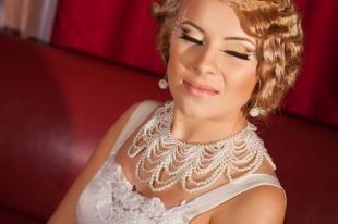 """Свадебный макияж в восточном стиле, свадебный макияж глаз в технике """"бабетта"""""""