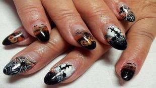Рисунки паука на ногтях, красивые рисунки для маникюра на хэллоуин