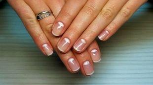 Французский маникюр на коротких ногтях, повседневный маникюр на короткие ногти