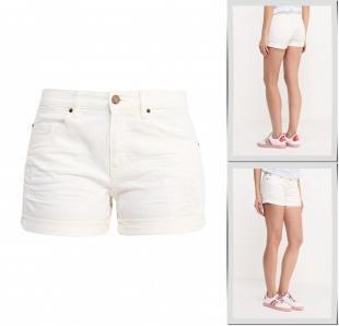 Белые шорты, шорты джинсовые boss orange, весна-лето 2016