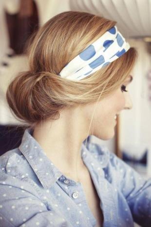 Греческая причёска с повязкой на длинные волосы, быстрая греческая прическа с повязкой