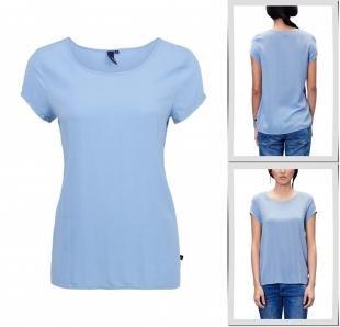 Голубые футболки, футболка s.oliver denim, весна-лето 2016