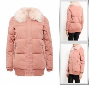 Розовые куртки, куртка утепленная river island, осень-зима 2016/2017
