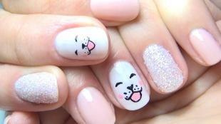 Рисунки на ногтях кисточкой, маникюр для девочек