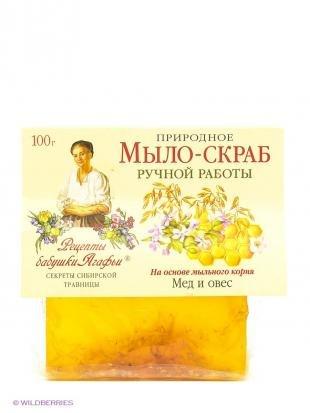 "Натуральный скраб, рецепты бабушки агафьи мыло-скраб ""мед и овес"""