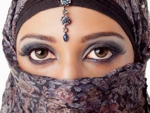 Арабский макияж для карих глаз, макияж для карих глаз в восточном стиле