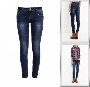 Синие джинсы, джинсы regular, осень-зима 2016/2017