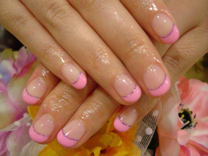 Французский маникюр (френч) на коротких ногтях, фото 18
