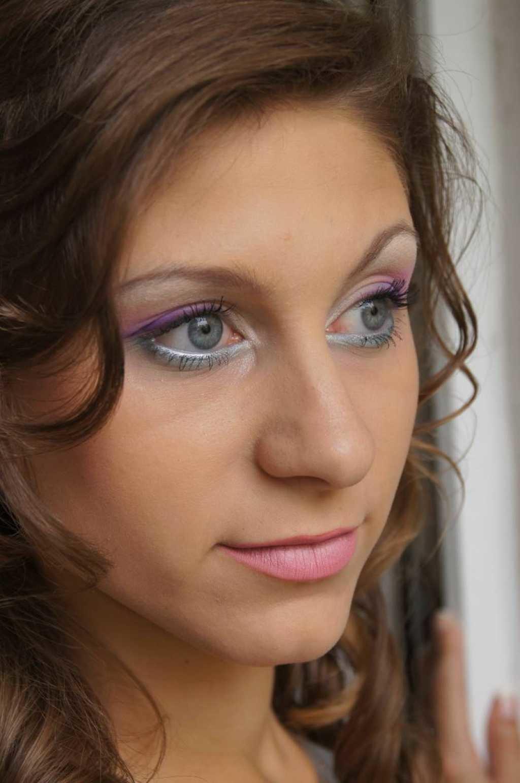 Свадебный макияж на серо голубые глаза фото