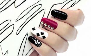 Рисунки на черных ногтях, потрясающий маникюр по фен-шуй