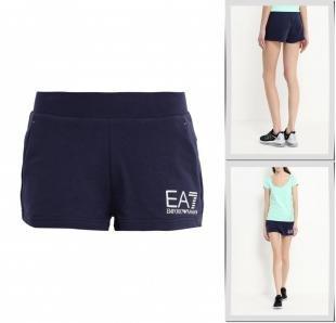 Синие шорты, шорты спортивные ea7, весна-лето 2016
