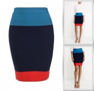 Синие юбки, юбка bcbgmaxazria, осень-зима 2015/2016