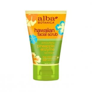 Очищающий скраб для лица, alba botanica hawaiian facial scrub. pore purifying pineapple enzyme (объем 113 г)