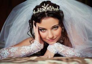 Нежный свадебный макияж, легкий свадебный макияж для карих глаз