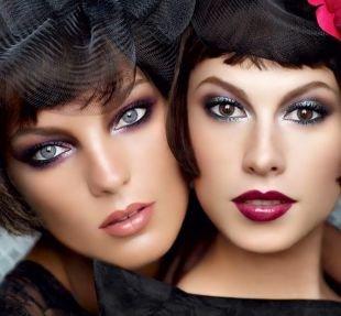 Макияж для узких глаз, светлый макияж в стиле чикаго 30-х годов
