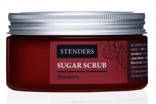 "Скраб с абрикосовыми косточками, stenders сахарный скраб ""западная клубника"", 250 г"