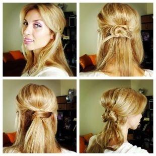 Цвет волос теплый блонд, милые повседневные прически для длинных волос