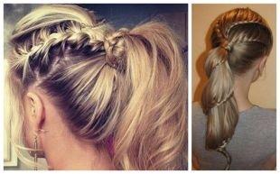 Прически на 1 сентября на длинные волосы, прически хвост с косами