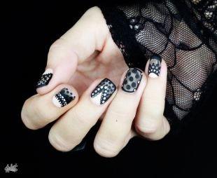 Оригинальные рисунки на ногтях, изящный маникюр - кружево