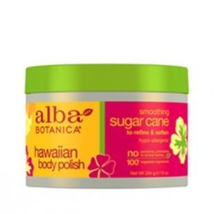 Сахарный скраб для тела, alba botanica hawaiian body polish. smoothing sugar cane (объем 284 г)