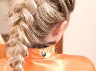 Прическа колосок на длинные волосы, прическа на основе французской косы