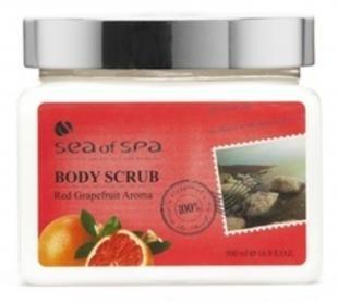 Скраб от целлюлита с морской солью, sea of spa скраб с солями мертвого моря красный грейпфрут