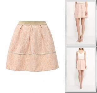 Бежевые юбки, юбка rinascimento, весна-лето 2016
