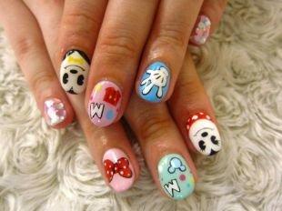 Рисунки на ногтях для начинающих, маникюр disney