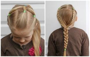 Пшеничный цвет волос на длинные волосы, легкая прическа в детский сад