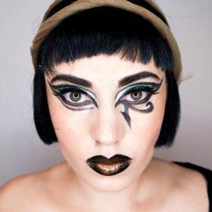 Легкий макияж на хэллоуин, макияж клеопатры на хэллоуин