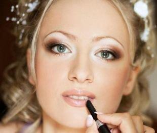 Свадебный макияж для серых глаз, макияж в греческом стиле