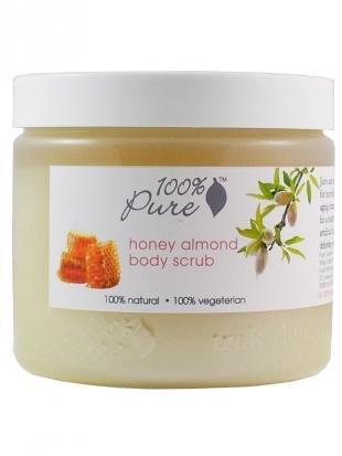 Абрикосовый скраб, 100% pure органический скраб для тела миндаль и мёд 443 мл