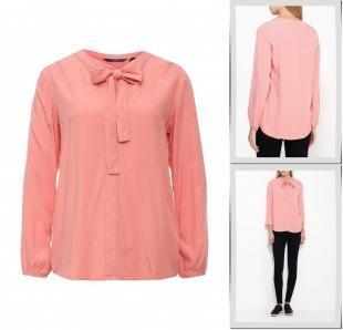 Коралловые блузки, блуза tom tailor, осень-зима 2016/2017