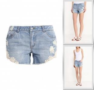 Голубые шорты, шорты джинсовые vero moda, весна-лето 2016