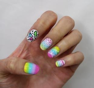 Модные рисунки на ногтях, летний маникюр на свидание